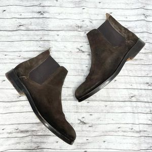 H BY HUDSON Brown Suede Chelsea Boots Size 42